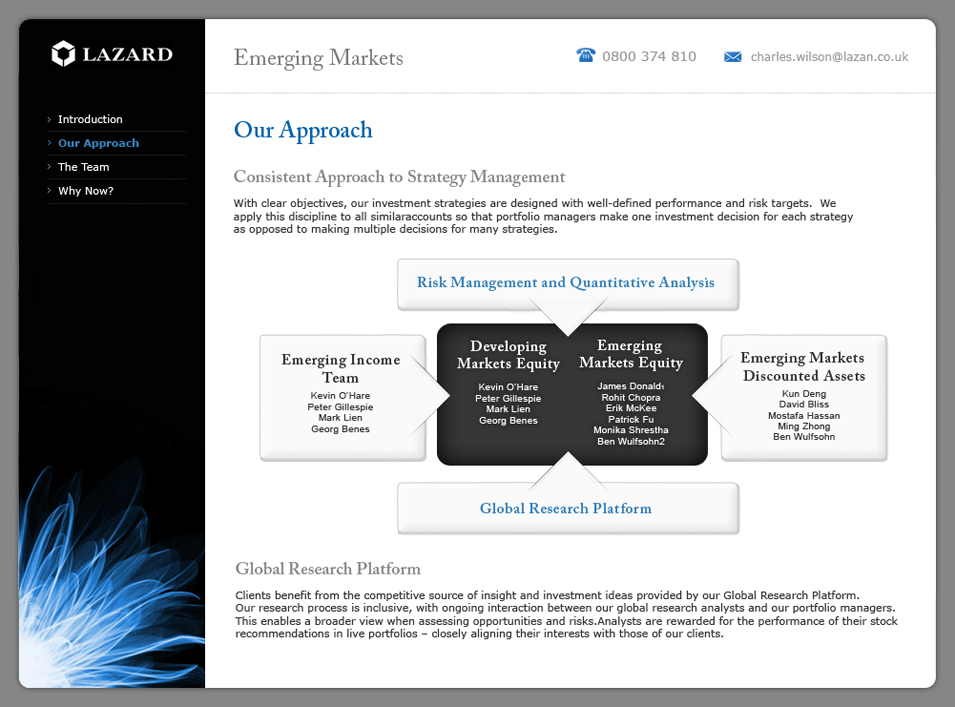 Lazard Emerging Markets Microsite Approach