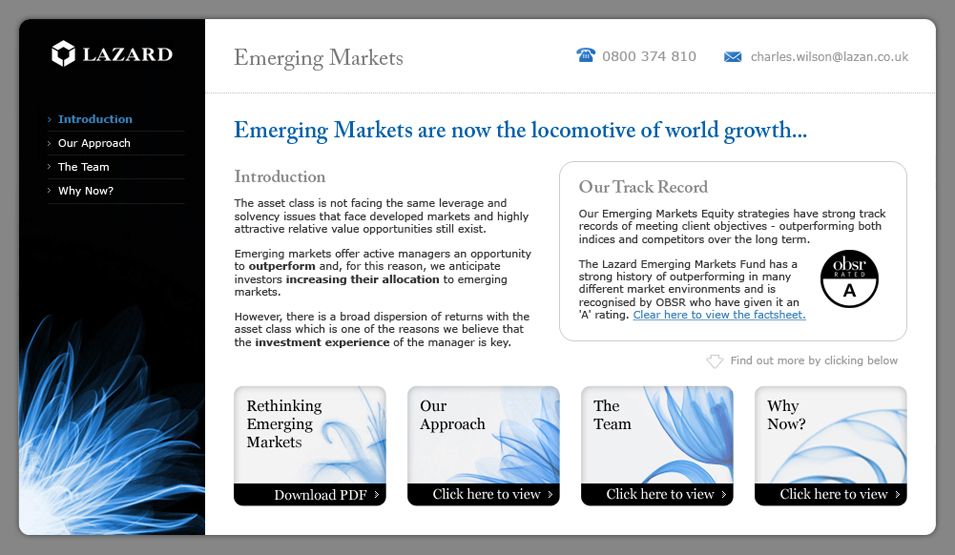 Lazard Emerging Markets Microsite Introduction
