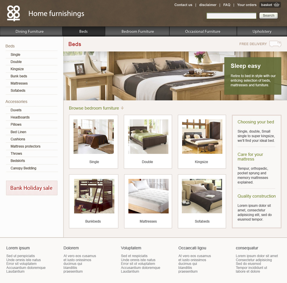 Co–op Furniture beds – pitch