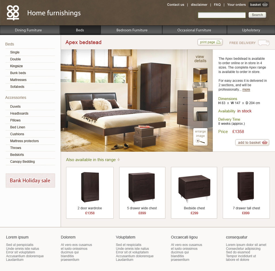 Co–op Furniture product – pitch