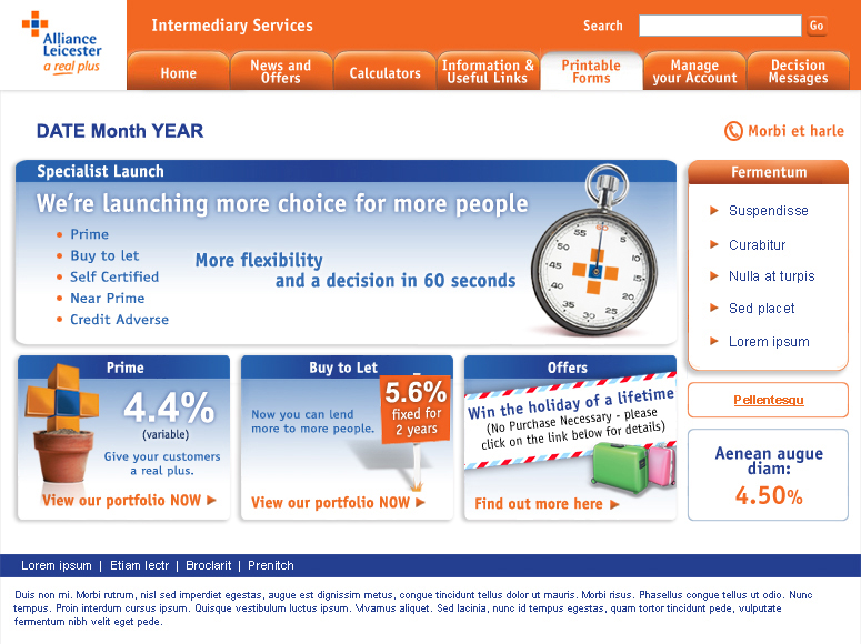 Alliance & Leicester Intermediaries homepage