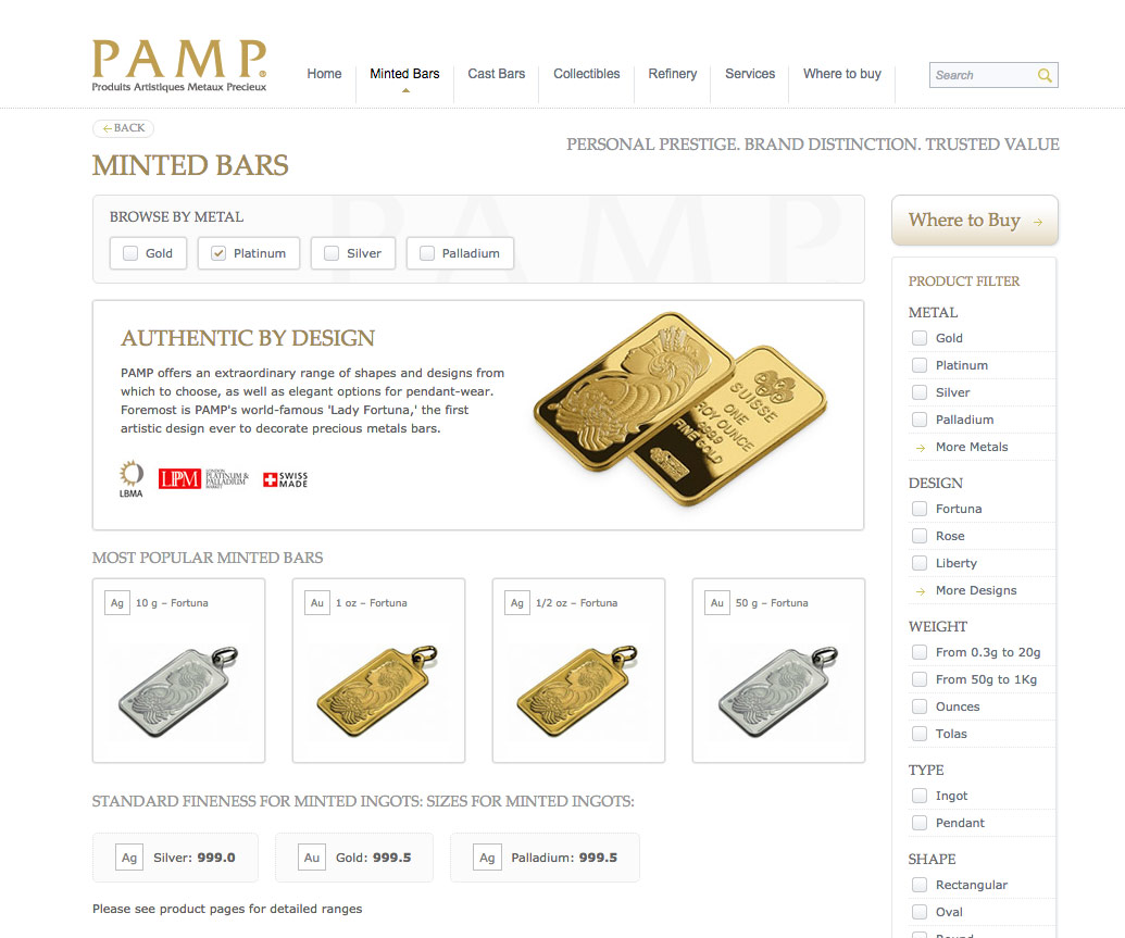 Pamp minted bars