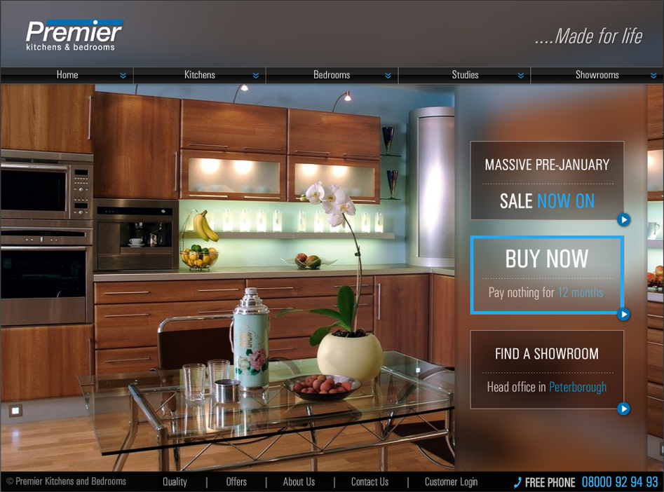 Premier Kitchens homepage